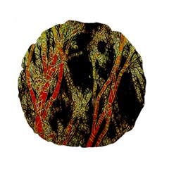 Artistic Effect Fractal Forest Background Standard 15  Premium Flano Round Cushions