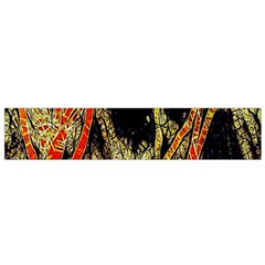 Artistic Effect Fractal Forest Background Small Flano Scarf