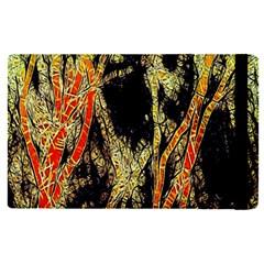 Artistic Effect Fractal Forest Background Apple Ipad Pro 12 9   Flip Case