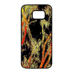 Artistic Effect Fractal Forest Background Samsung Galaxy S7 Edge Black Seamless Case