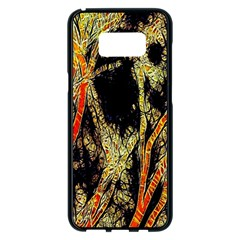 Artistic Effect Fractal Forest Background Samsung Galaxy S8 Plus Black Seamless Case