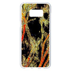 Artistic Effect Fractal Forest Background Samsung Galaxy S8 Plus White Seamless Case
