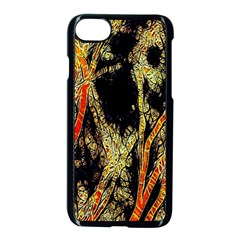 Artistic Effect Fractal Forest Background Apple Iphone 8 Seamless Case (black)