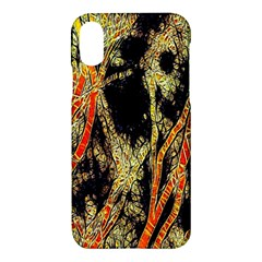 Artistic Effect Fractal Forest Background Apple Iphone X Hardshell Case