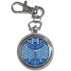 Flower Of Life Pattern Blue Key Chain Watches