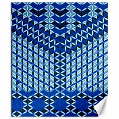 Flower Of Life Pattern Blue Canvas 8  X 10