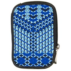 Flower Of Life Pattern Blue Compact Camera Cases