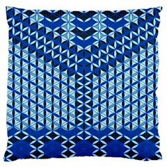 Flower Of Life Pattern Blue Large Cushion Case (two Sides)
