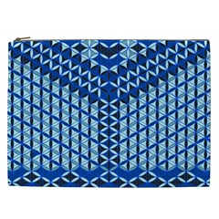 Flower Of Life Pattern Blue Cosmetic Bag (xxl)