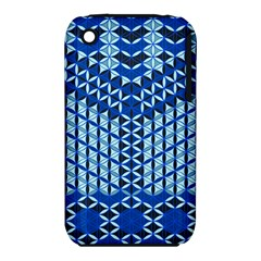 Flower Of Life Pattern Blue Iphone 3s/3gs