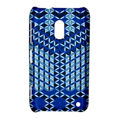 Flower Of Life Pattern Blue Nokia Lumia 620