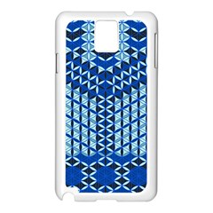 Flower Of Life Pattern Blue Samsung Galaxy Note 3 N9005 Case (white)