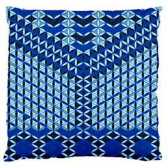 Flower Of Life Pattern Blue Large Flano Cushion Case (one Side)