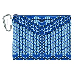Flower Of Life Pattern Blue Canvas Cosmetic Bag (xxl)