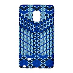 Flower Of Life Pattern Blue Galaxy Note Edge