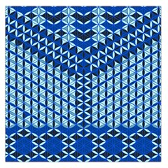 Flower Of Life Pattern Blue Large Satin Scarf (square)