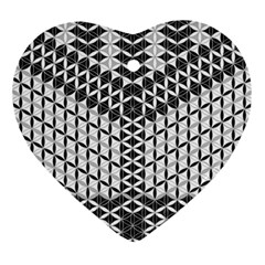 Flower Of Life Grey Ornament (heart)