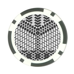 Flower Of Life Grey Poker Chip Card Guard (10 Pack)