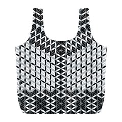 Flower Of Life Grey Full Print Recycle Bags (l)
