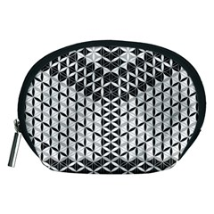 Flower Of Life Grey Accessory Pouches (medium)