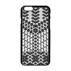 Flower Of Life Grey Apple Iphone 6/6s Black Enamel Case