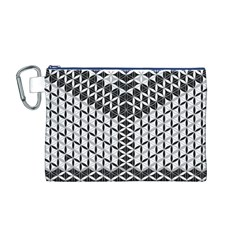 Flower Of Life Grey Canvas Cosmetic Bag (m)