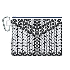 Flower Of Life Grey Canvas Cosmetic Bag (l)