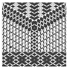 Flower Of Life Grey Large Satin Scarf (square)