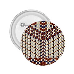 Flower Of Life Pattern Red Blue 2 25  Buttons