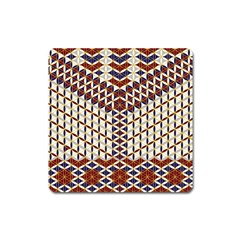Flower Of Life Pattern Red Blue Square Magnet