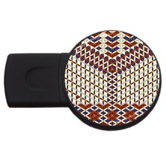 Flower Of Life Pattern Red Blue Usb Flash Drive Round (2 Gb)