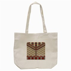 Flower Of Life Pattern Red Blue Tote Bag (cream)