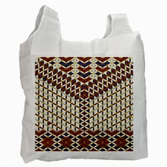 Flower Of Life Pattern Red Blue Recycle Bag (two Side)