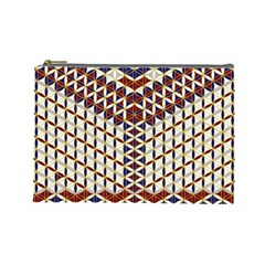 Flower Of Life Pattern Red Blue Cosmetic Bag (large)