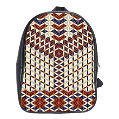 Flower Of Life Pattern Red Blue School Bag (large)