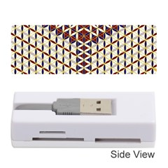 Flower Of Life Pattern Red Blue Memory Card Reader (stick)