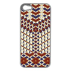 Flower Of Life Pattern Red Blue Apple Iphone 5 Case (silver)
