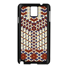 Flower Of Life Pattern Red Blue Samsung Galaxy Note 3 N9005 Case (black)