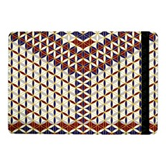 Flower Of Life Pattern Red Blue Samsung Galaxy Tab Pro 10 1  Flip Case
