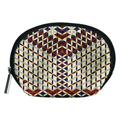 Flower Of Life Pattern Red Blue Accessory Pouches (medium)