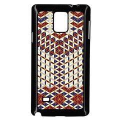 Flower Of Life Pattern Red Blue Samsung Galaxy Note 4 Case (black)