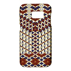 Flower Of Life Pattern Red Blue Samsung Galaxy S7 Hardshell Case