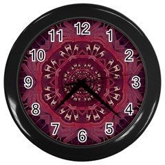 Leather And Love In A Safe Environment Wall Clocks (black)