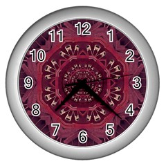 Leather And Love In A Safe Environment Wall Clocks (silver)