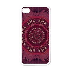 Leather And Love In A Safe Environment Apple Iphone 4 Case (white)