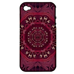Leather And Love In A Safe Environment Apple Iphone 4/4s Hardshell Case (pc+silicone)