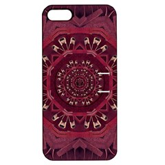 Leather And Love In A Safe Environment Apple Iphone 5 Hardshell Case With Stand