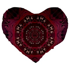 Leather And Love In A Safe Environment Large 19  Premium Flano Heart Shape Cushions