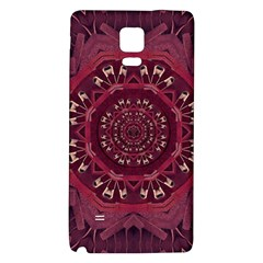 Leather And Love In A Safe Environment Galaxy Note 4 Back Case