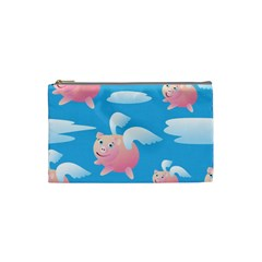 Flying Piggys Pattern Cosmetic Bag (small)
